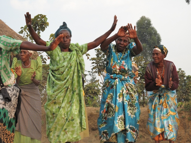 The women of Nombe, rural Uganda, dancing together during my visit in 2012...what a beautiful community.